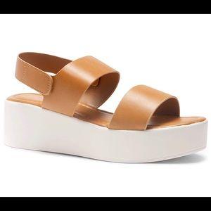 NWT HERSTYLE Ankle Strap Platform Wedge Sandals